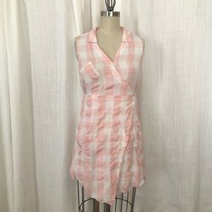 Pink Gingham summer dress with pockets!